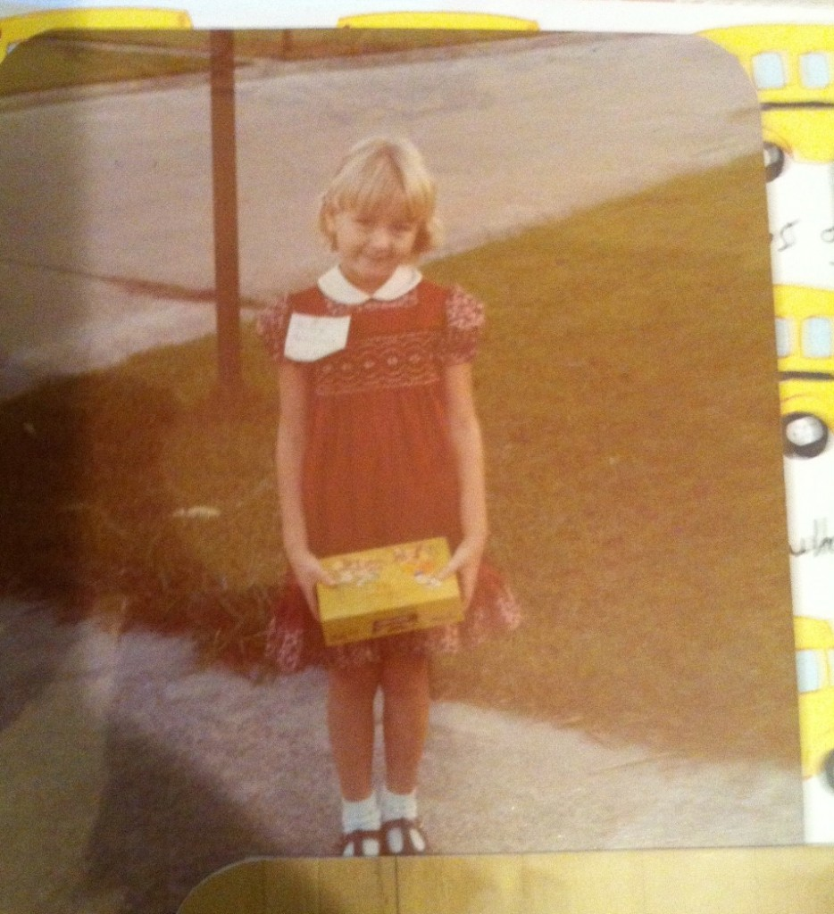 {yours truly on the first day of kindergarten}