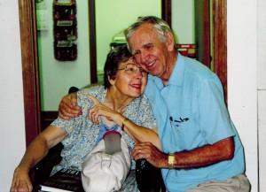 Nana & Poppi Hugging
