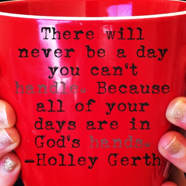 In God's Hands photo by Holley Gerth