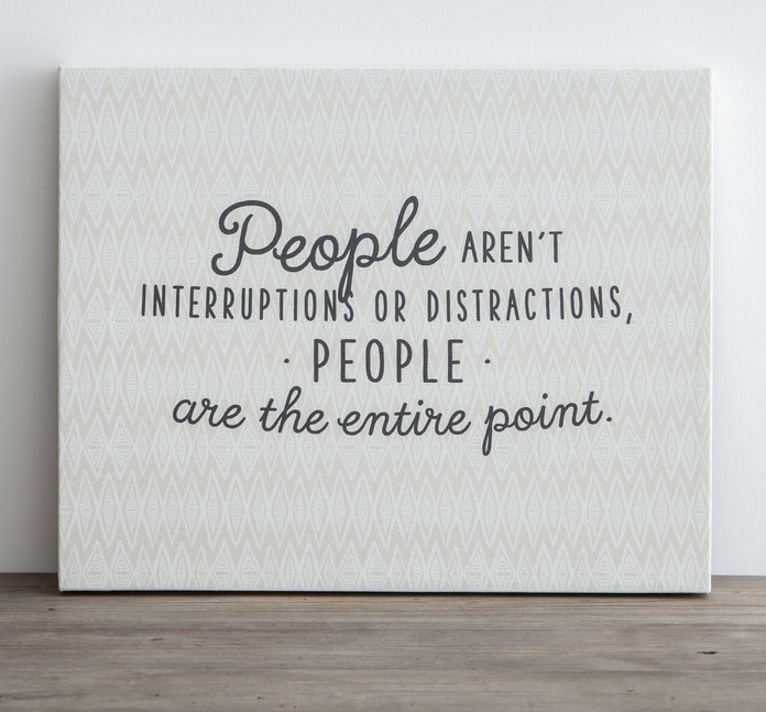 People are the Point Canvas Pin Board by DaySpring