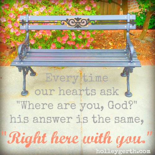 Right Here with You by Holley Gerth