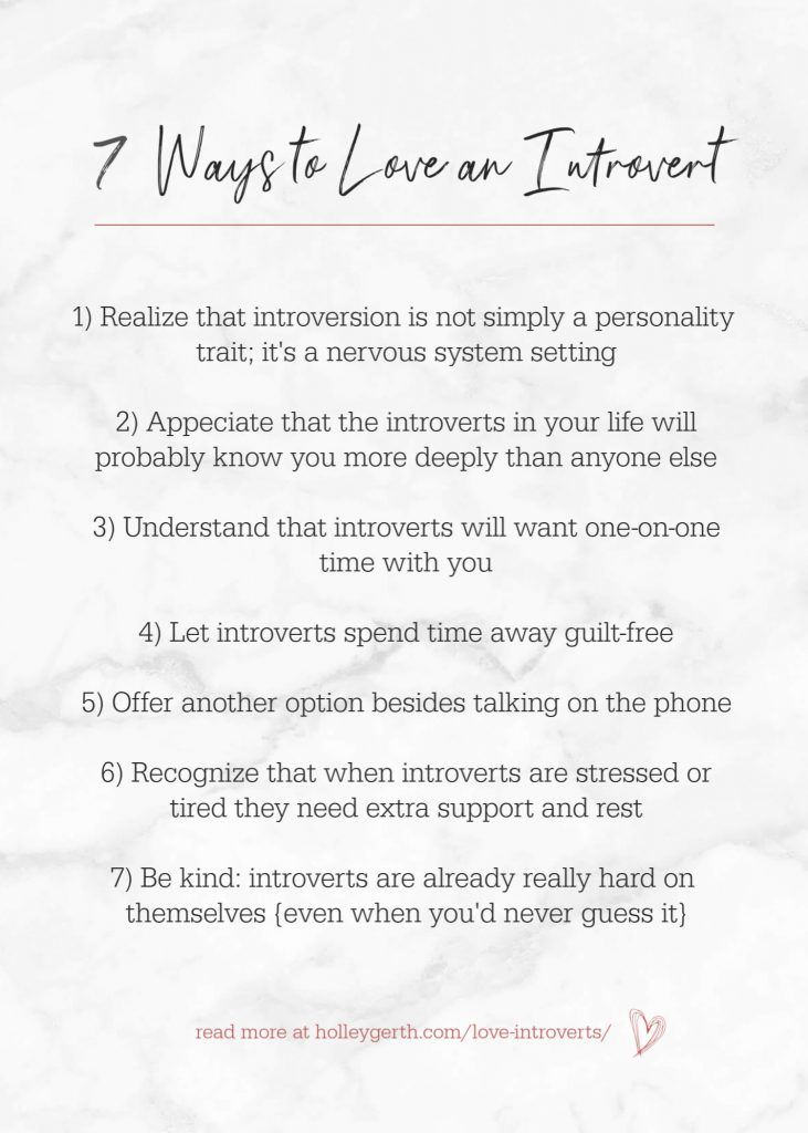 7 Ways to Love an Introvert by Holley Gerth