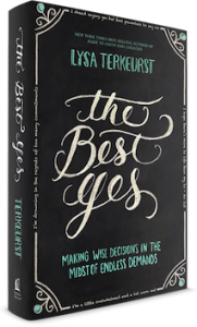 Best Yes book by Lysa Terkeurst