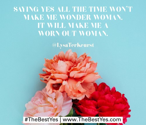 The Best Yes by Lysa Terkeurst 1