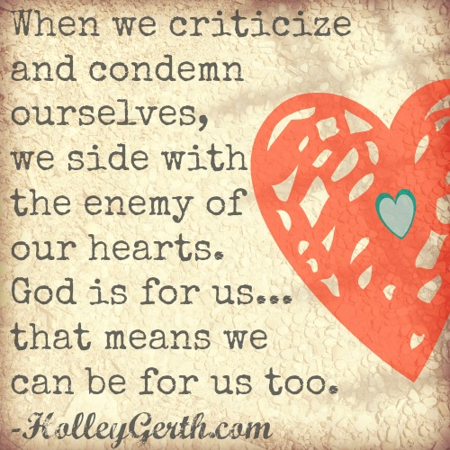 God has defeated our enemies, given us victory, and made us more than conquerors. http://holleygerth.fistbumpmedia.com
