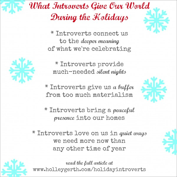 Holiday Introverts by Holley Gerth