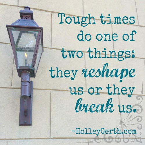 Tough times are going to come but your reaction can determine whether you bend or break. Choosing to stay soft does not make you weak. http://holleygerth.com/choosing-soft/