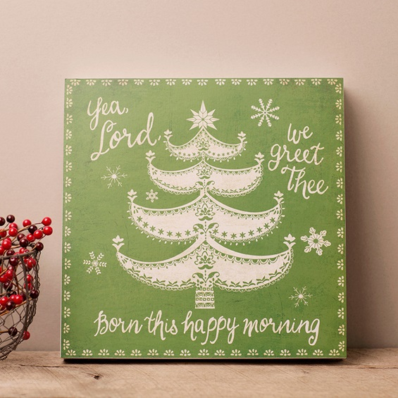Lyrics for Life Christmas Canvas