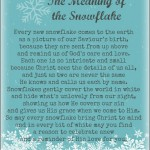 A poem on the meaning of the snowflake. May your Christmas be white and wonderful! via holleygerth.com