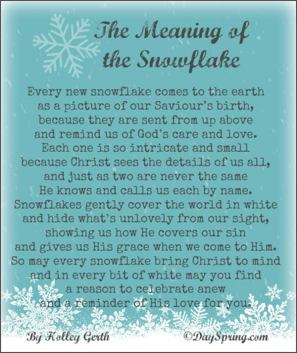 The meaning of snowflake holley gerth