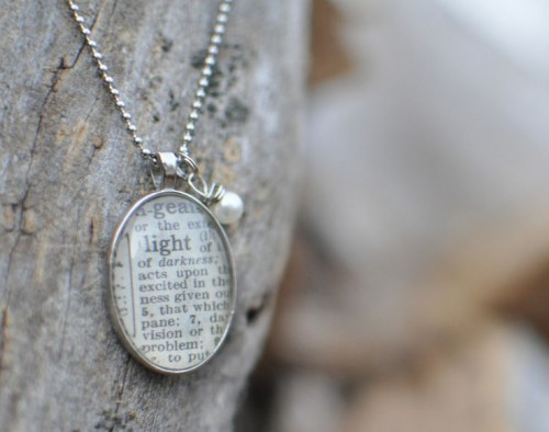 Win this necklace at http://holleygerth.com and you'll even get to choose which word you would like!