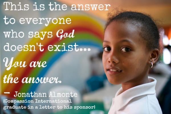 The Answer to People Who Say God Doesn't Exist…