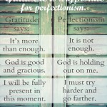GratitudePerfectionism