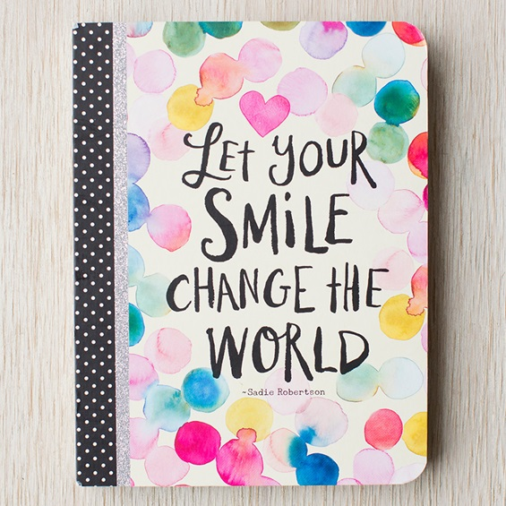 Let Your Smile Change the World Journal by DaySpring