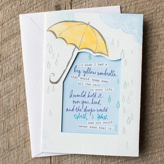 Big Yellow Umbrella Card by DaySpring - Holley Gerth