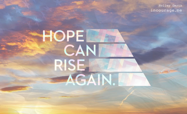 On 9/11 we remember, hope can rise again.