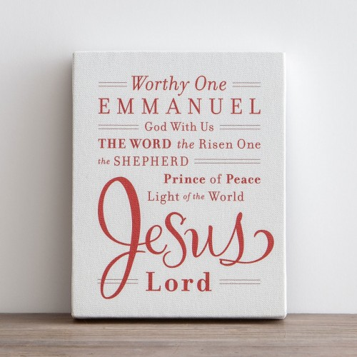 Names of Jesus - Printed Canvas