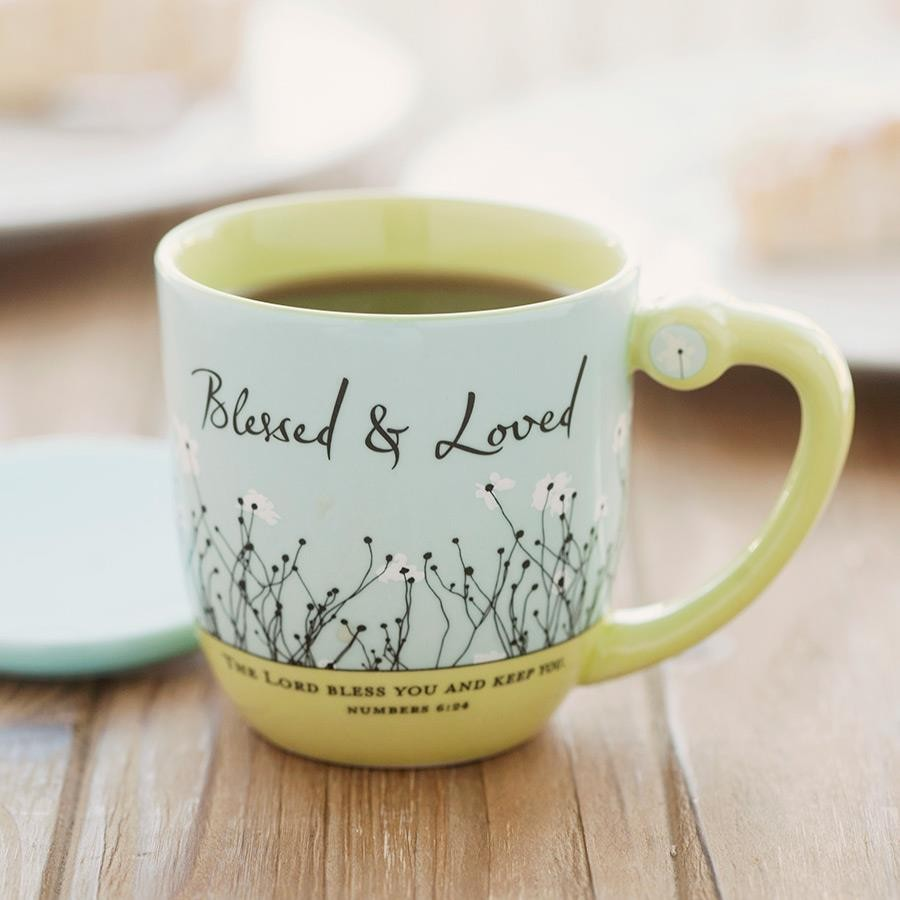 Blessed & Loved - Teacup with Lid