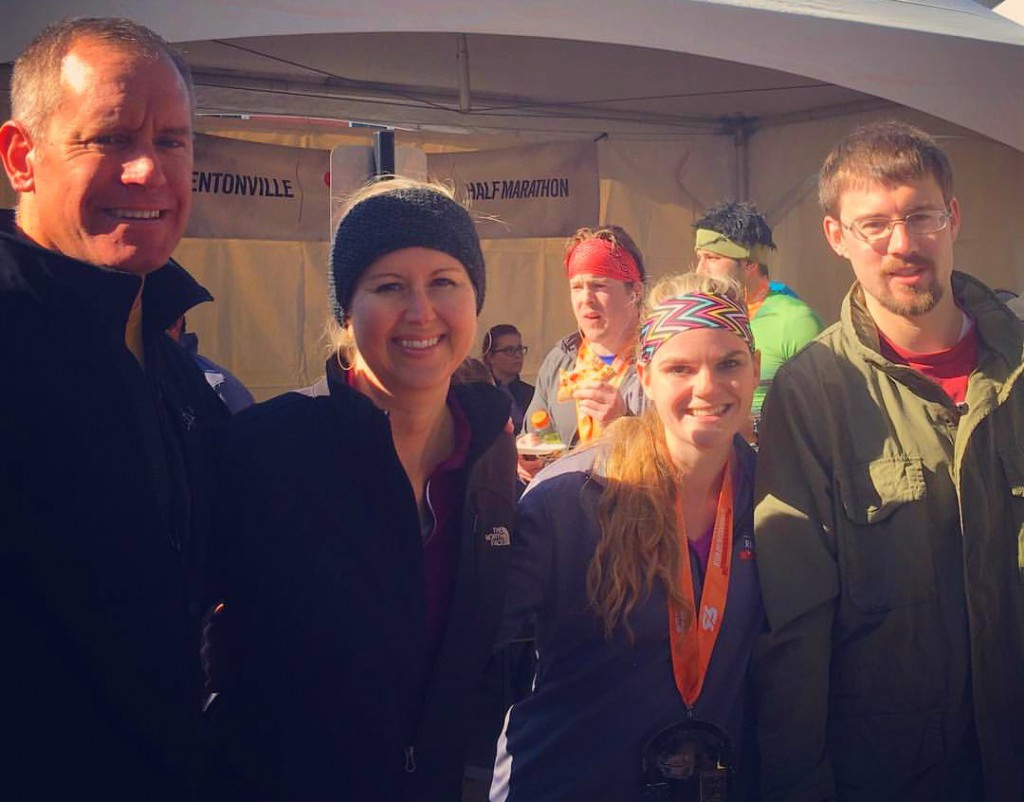 Holley Gerth and family at a half marathon
