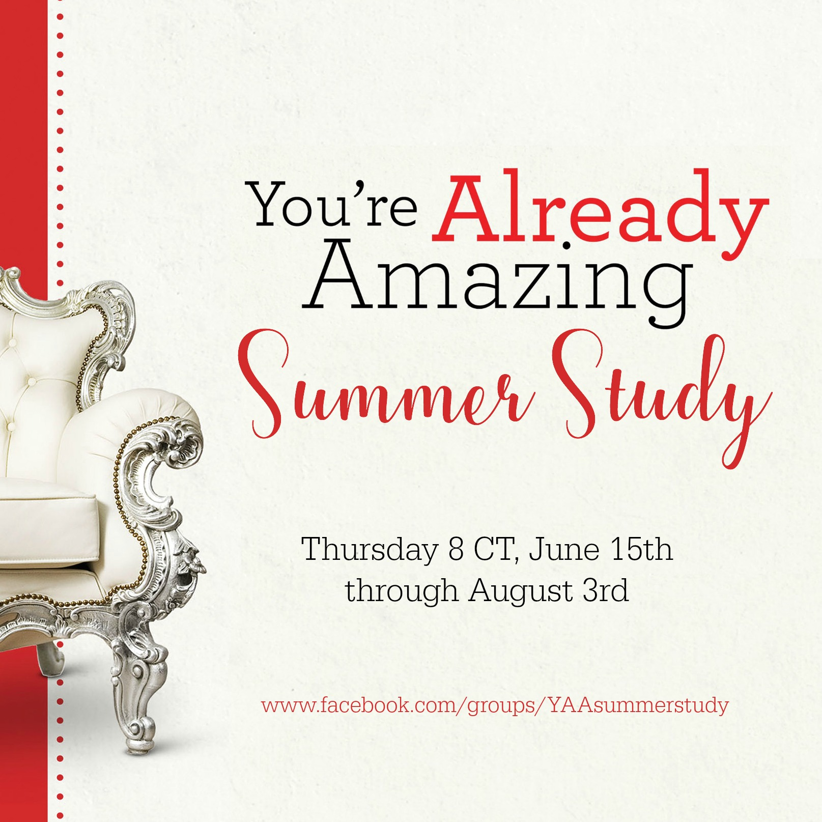 Invitation: You're Already Amazing Summer Study