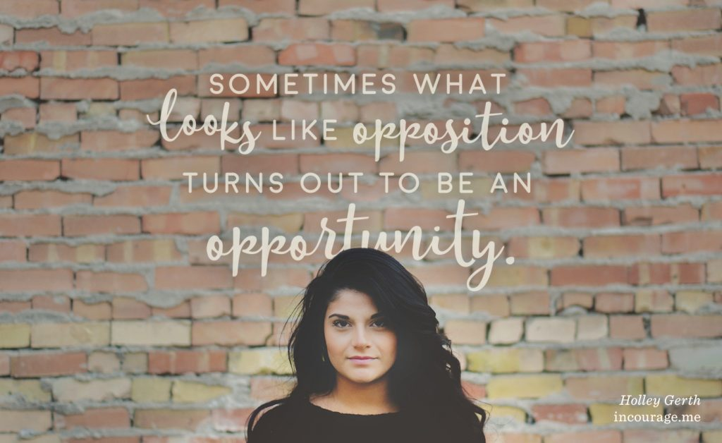 Sometimes what looks like opposition turns out to be an opportunity.