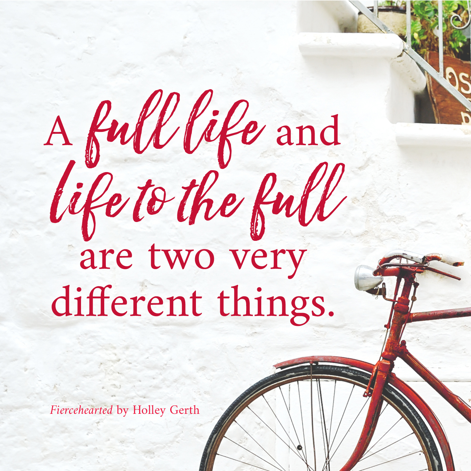 A full life and life to the full are two very different things.