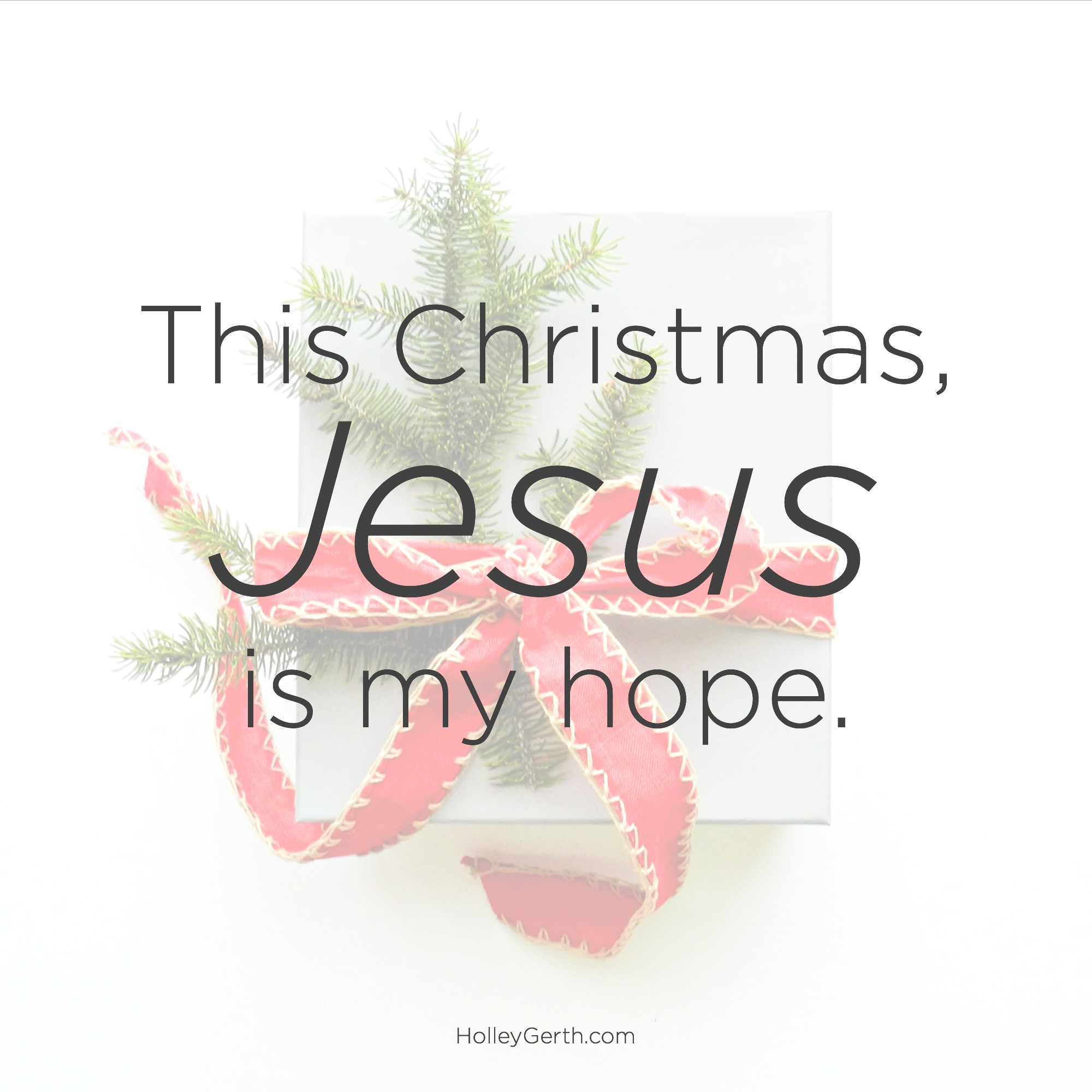 This Christmas, Jesus is my hope.