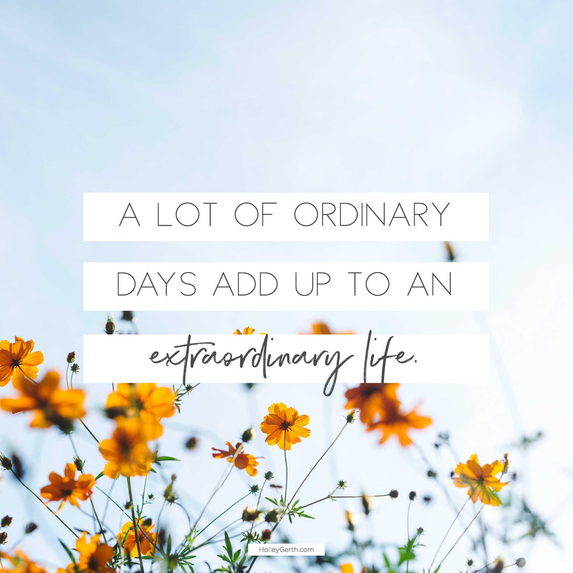 Small is the new big. Quiet the new loud. Ordinary the new extraordinary.