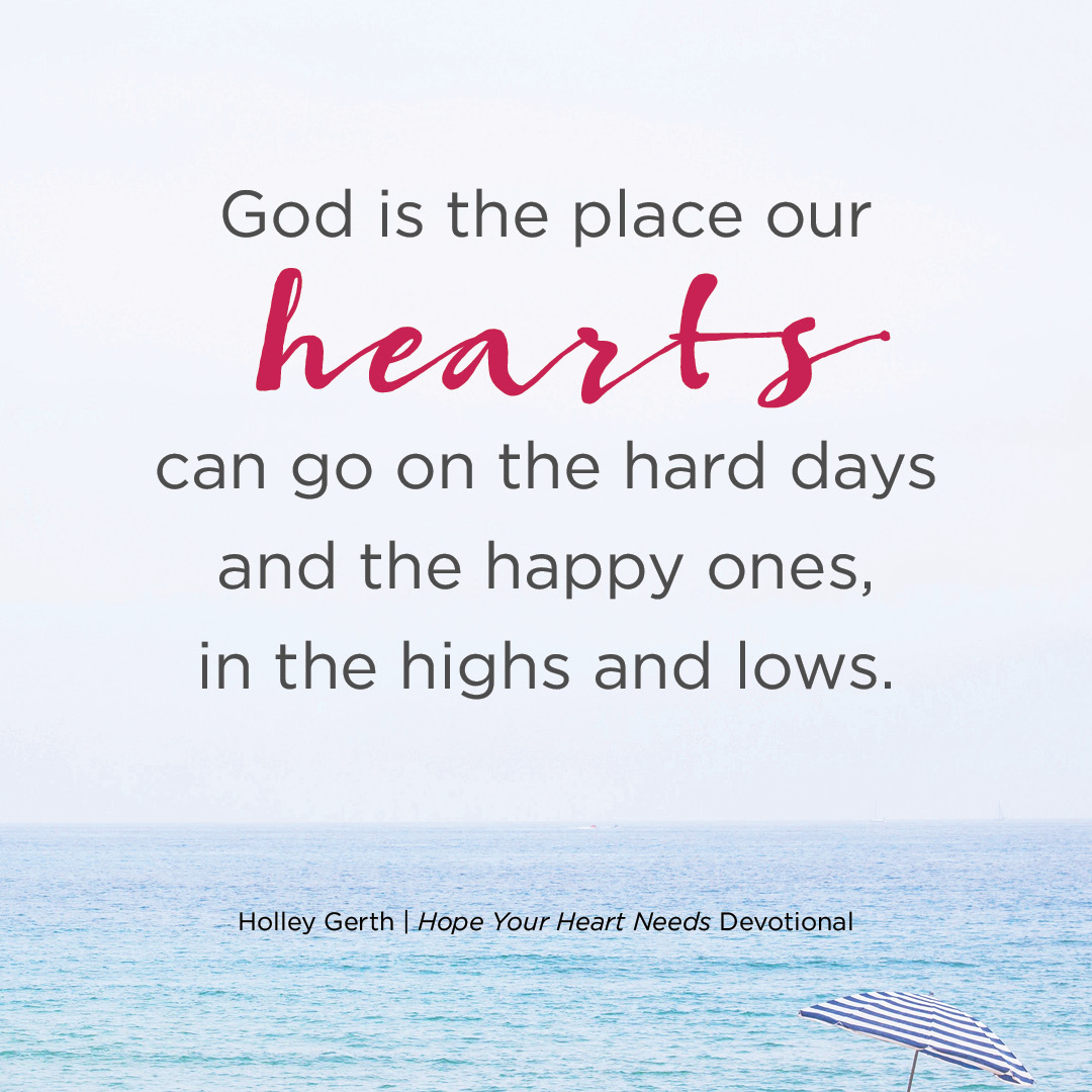 When Our Hearts Need Someone to Count On