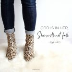 """God is in her. She will not fall"" (Ps. 46:5)."