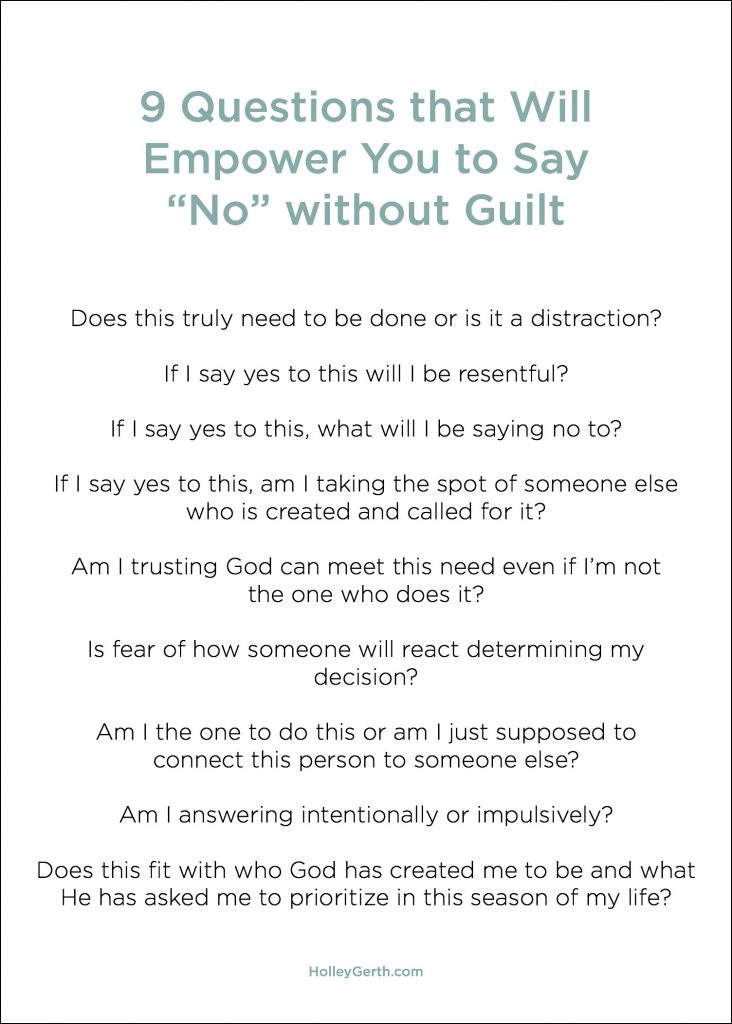 """9 Questions that Will Empower You to Say """"No"""" without Guilt"""