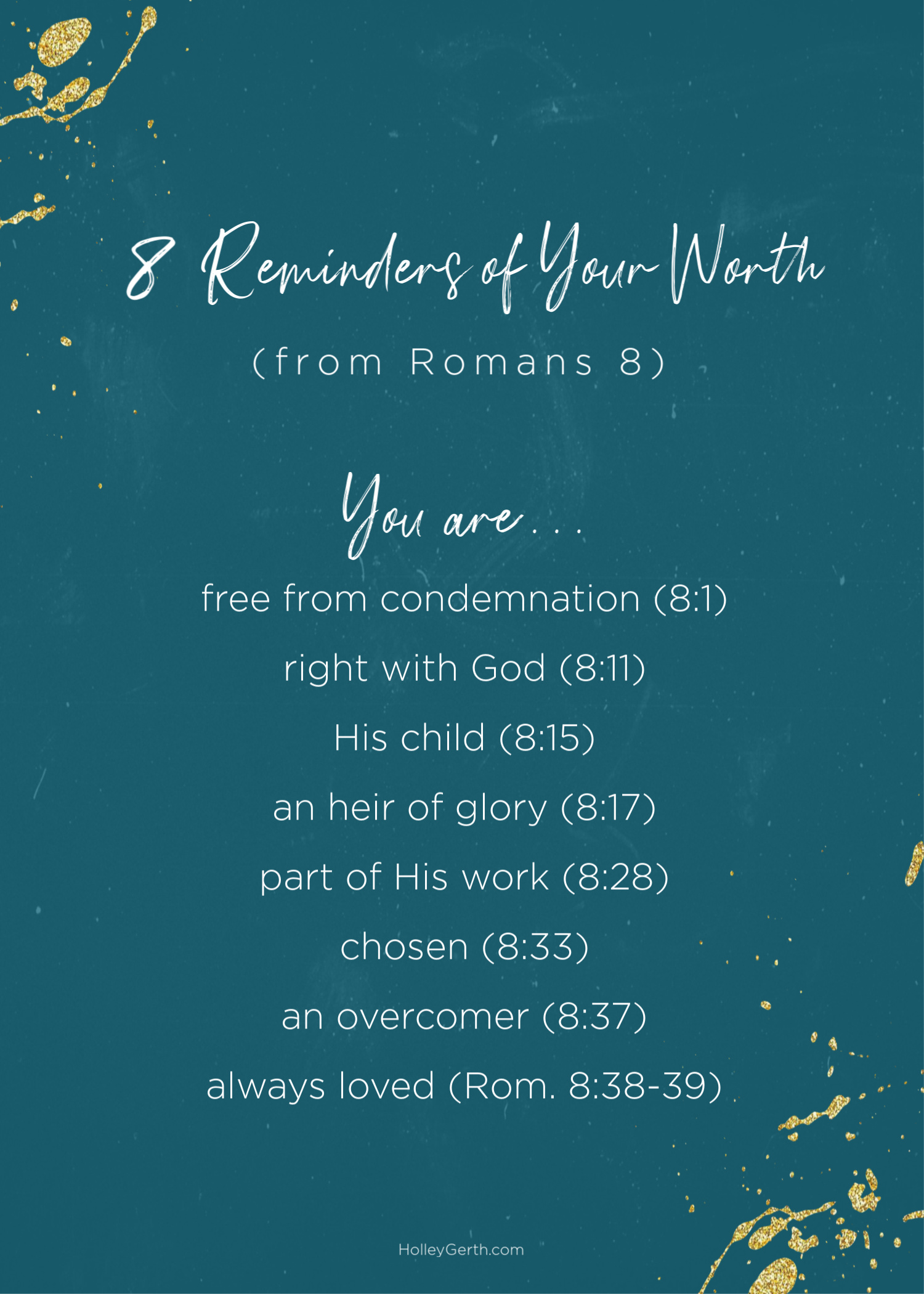 8 Reminders of Your Worth