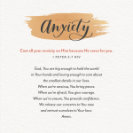 A prayer to hold onto today, if you're feeling anxious...