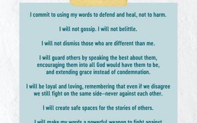 Let's Commit to Using Our Words to Heal Not Harm Today