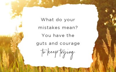 What Do Your Mistakes Mean? You Have the Guts and Courage to Keep Trying