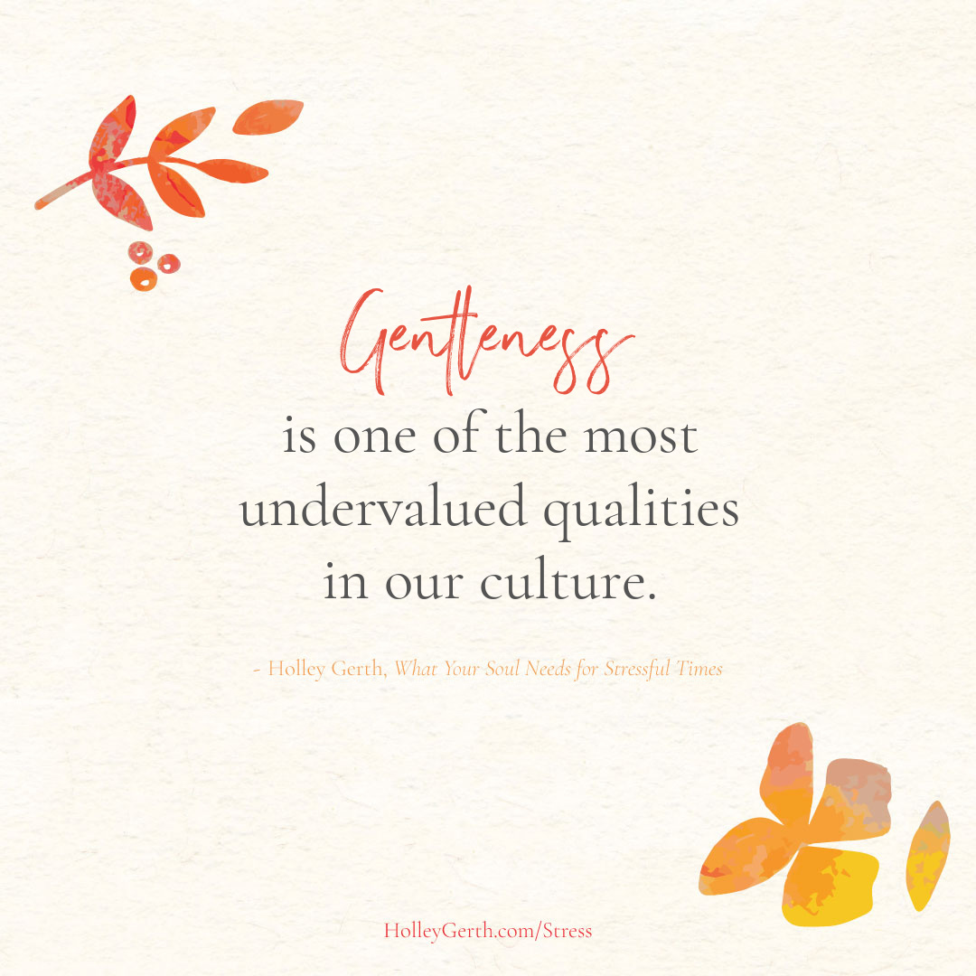 Gentleness is one of the most undervalued qualities in our culture.